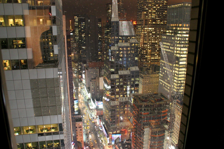 Aussicht aus unserem Hotelzimmer
