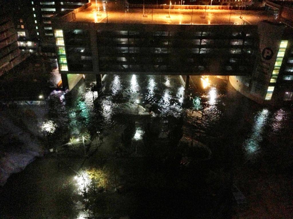 West Street unter Wasser
