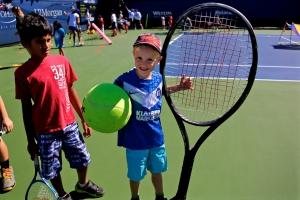 Quentin beim US Open Kids day