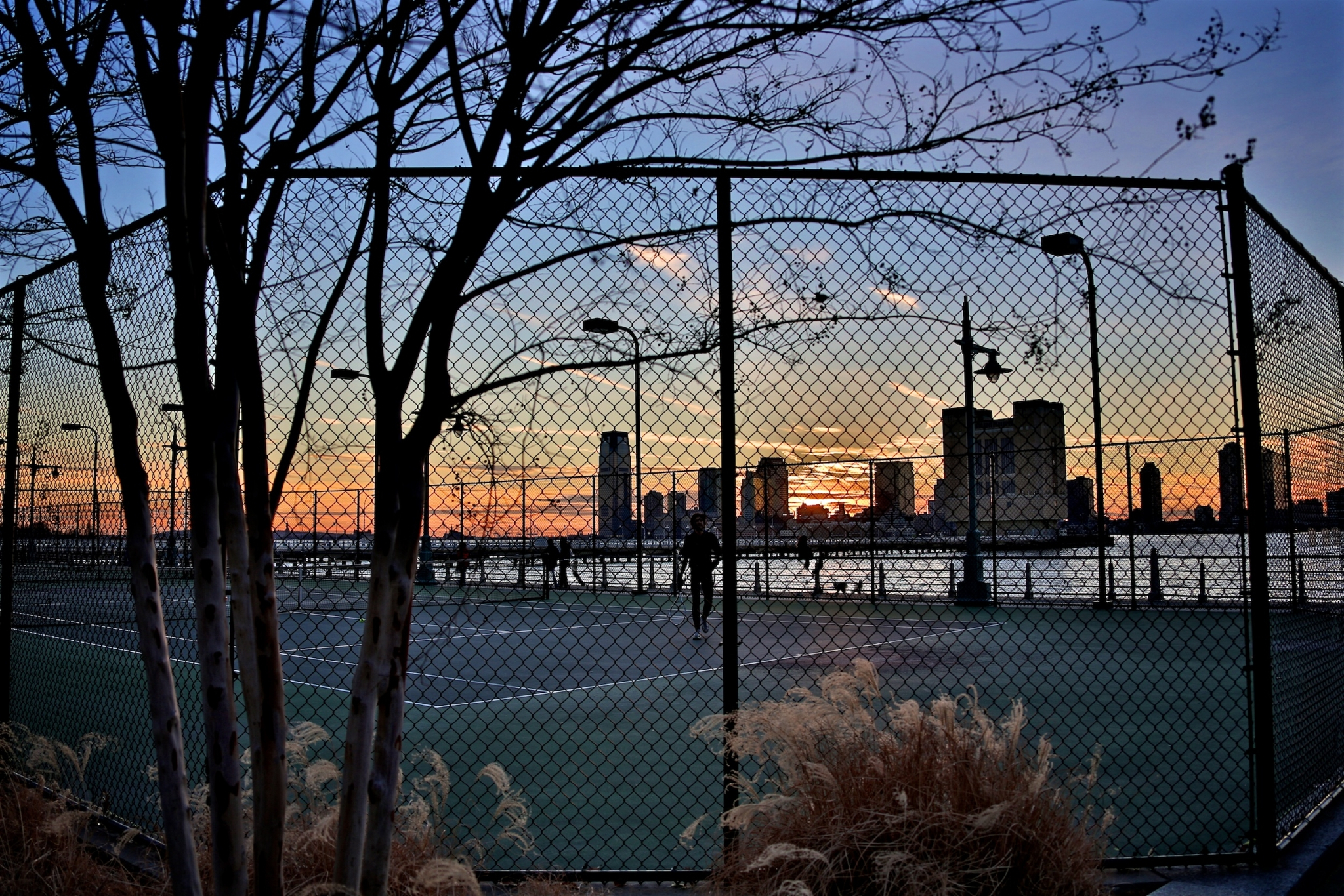 Tennis am Hudson River in NYC