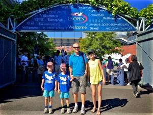 Die ganze Familie bei der US Open